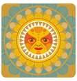 concentric decorative summer sun vector image
