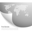 Background with map vector image vector image