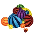 Colorful balls pile vector image