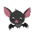 Cute cartoon bat character vector image