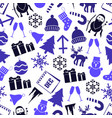 december month theme set of icons seamless vector image