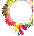 Exotic flowers composition vector image