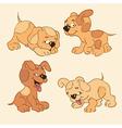 Four cartoon puppies vector image