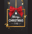 the inscription of merry christmas in a gold frame vector image