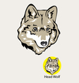 Wolf Head Logo and Emblem vector image