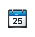 May 25 Calendar icon flat vector image vector image