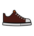 cute brown shoe cartoon vector image