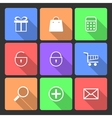 Shopping Icons set with Long Shadow vector image vector image