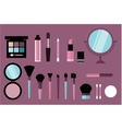 beauty desk header vector image vector image