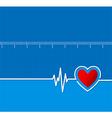Cardiograms Medical heart rhythm Heart vector image