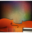 abstract grunge music background with violin on vector image