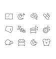 Lined Sleep Well Icons vector image