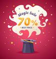 Magic super sale vector image