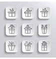 Gift Box Web Icons Set Holiday Presents vector image vector image