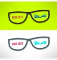 book geek idea with glasses and book vector image