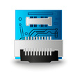 Chip computer processor vector image