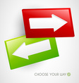 Choose your way vector image