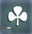 Clover icon On the blue-green abstract background vector image