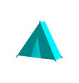 flat camping hiking tent isolated vector image