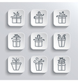 Gift Box Web Icons Set Holiday Presents vector image