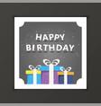 Happy birthday template gift card premium vector image