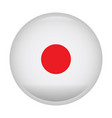 isolated flag of japan vector image