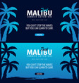 malibu surfing graphic with palms surf club vector image