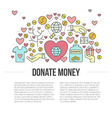 Charity Banner vector image