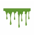 Oozing slime isolated on white background vector image