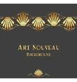 Vintage art nouveau ornament vector image