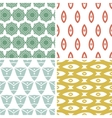 Four tribal shapes abstract geometric patterns and vector image