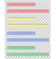 transparent ruler 02 vector image vector image