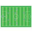 4-4-2 soccer scheme vector image
