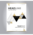 Gold annual report brochure design template vector image