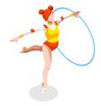 Gymnastics Rhythmic Hoop 2016 Sports 3D vector image