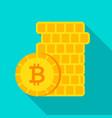 bitcoin money flat icon vector image