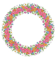 floral design wreath vector image