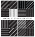 geometric seamless pattern set Repeating vector image