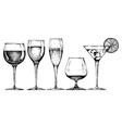 goblet set vector image