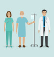 hospital staff concept doctor nurse and senior vector image