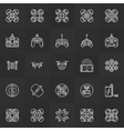 Quadcopter icons set vector image