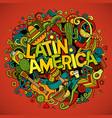 latin america cartoon hand drawn doodle vector image