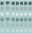 radio waves wireless radio signal icon radio vector image