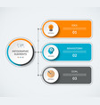infographic diagram template with 3 options vector image