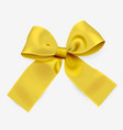 golden ribbon bow vector image