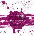 grunge mirror ball vector image vector image