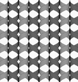 Ribbons cross overlapping pattern vector image