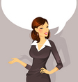 busineswoman speak vector image