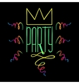 Party Handdrawn Poster vector image