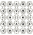 Abstract retro black and white seamless pattern vector image